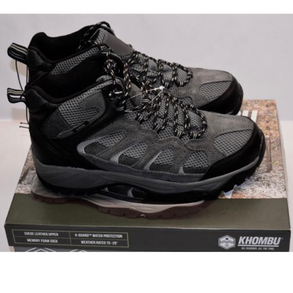 4be613351ce New Men's Khombu Tyler Hiking Boot Black/Grey NWT